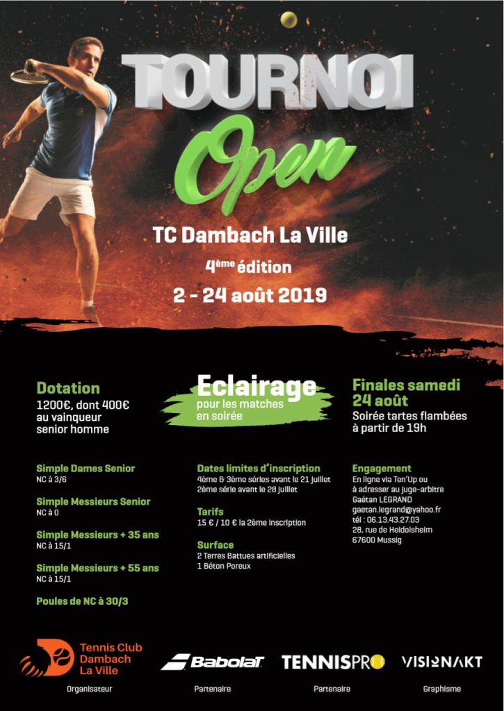 Quatrième édition du tournoi Open qui se déroulera du 2 au 24 Août 2019.