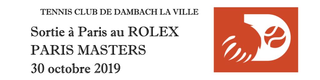 Sortie Rolex Paris Masters 2019