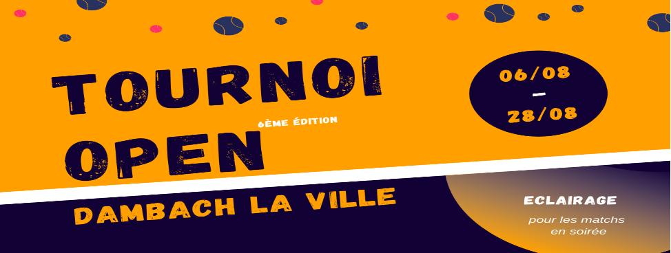 Tournoi Open Dambach La Ville 2021